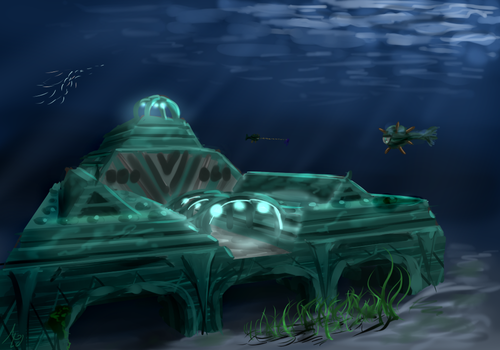 Minecraft Ocean Monument [14w25a snapshot] by Algoinde