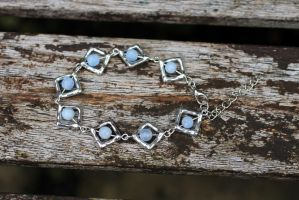 Unique Blue and Silver Bracelet by Clerdy