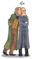 Mistletoe Kisses: Valjean and Javert by Starlene