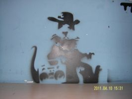 banksy mouse by parsioks