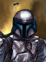 Jango Fett sketch card by geralddedios