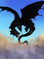 Black dragon by Shadow-Saphirae