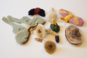 Felted Forest Brooches and Hair Clips by Maresy