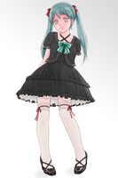 Gothic Miku by cie3d