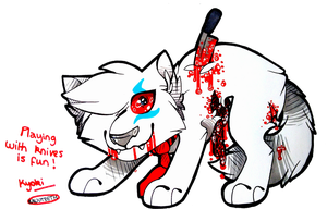 ..: Playing w/ knives is fun . Gore challenge #28 by FlNCH-FACE