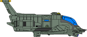 Colonial Heavy Raptor Dropship - First Cylon War by Kelso323