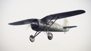 PZL P11 in the fog by Laffonte