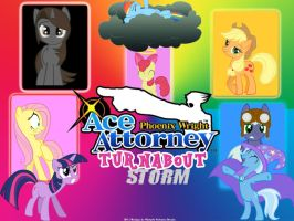 Phoenix Wright:Ace Attorney - Turnabout Storm by phin-the-pie