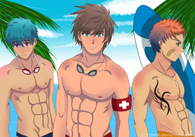 Cray, Life Guard, And Dylan by Anirei