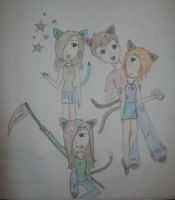 1 da friend group colored :D by starearthgirl