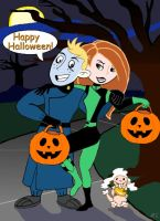 Halloween with Kim and Ron by LMColver