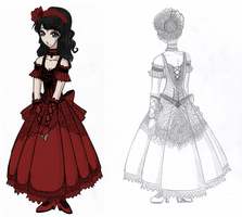 My Gothic Wedding Dress by Yamizakuro