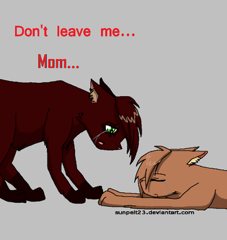 Dont leave me.. Mom(Brownheart) by DiscoBearsFTW