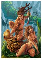 Tarzan vs Sabor color by qualano