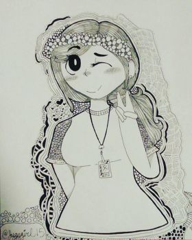i drawn myself in a cartoon style ... by Artlover030