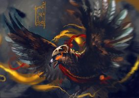 Eagle Hunt Low by black-3G-raven
