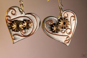 Steampunk earrings 12 by TheCraftsman