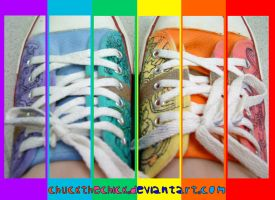 colorful shoes by chuckTHEchick