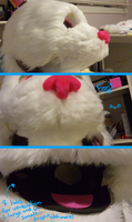 Ice's Fursuit Bottom Jaw Shaved and More by Ice-Artz