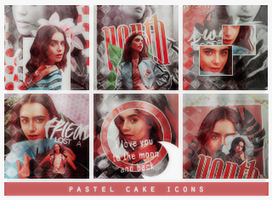 Pastel Cake Icons by avengeur