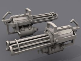 Team Fortress 2 Gatling gun by Nirwrath