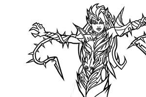 League of Legends Zyra by ChaosBloodLust