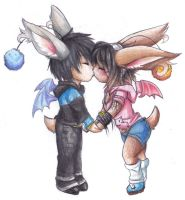Moogle Kisses by Tartii