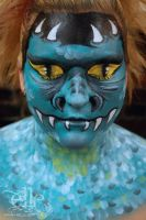 Dragon/monster Face Paint by ElleFX