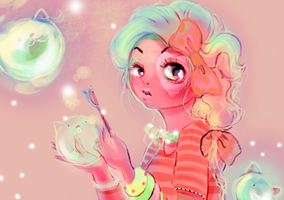 Bubble close up by OhAnneli