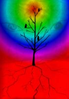 Rainbow Tree Of Darkness by GoddessSpiritwolf