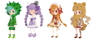 + FREE ADOPTS + BATCH 2 + CLOSED + by AntiqueGlass