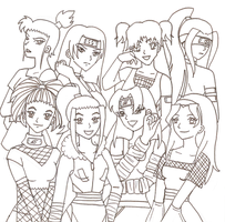 NARUTO OC GIRLS by JBarnzi88