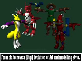 A Digi Evolution in Art by wildroo