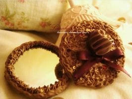 Chocolate Fancy Mirror by Lanaleiss