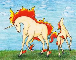 Rapidash for Skyqeen by Wishing0nTheStars