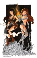 Lara and Sara by dsoloud