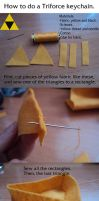 Triforce Keychain | Tutorial | Easy and fast by Aintza-K