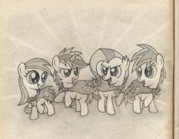 Cutie Art Crusaders fanart sketch by Agamnentzar