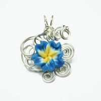Floral Bead Perfume Pendant by Create-A-Pendant