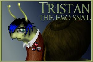 Tristan the Emo Snail by GlamourKat