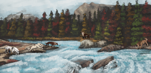 [toko fishing] day at the river by hyaenida