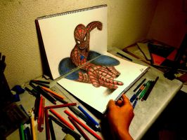 3D Drawing - Other angles [The Amazing Spider-man] by NAGAIHIDEYUKI