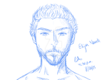 NEW OC: Elijah Nowell Front View Sketch by Artworx88
