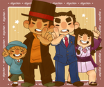 Professor Layton VS Phoenix Wright by jamknight