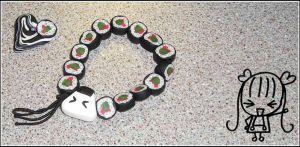 More Sushi Beads by PetRockOddSock