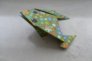 Origami Frog by fleecyblue
