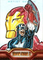 Iron Man 2 sketchcards 11 by SpiderGuile