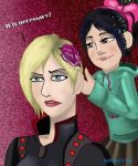 Sergeant Calhoun and Vanellope by Victory-S