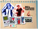 80s Stickers PNG by Farawlat-dxb