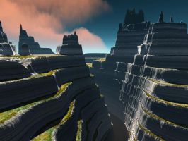 TerraGen: Terraced w- Strata by dynomyte